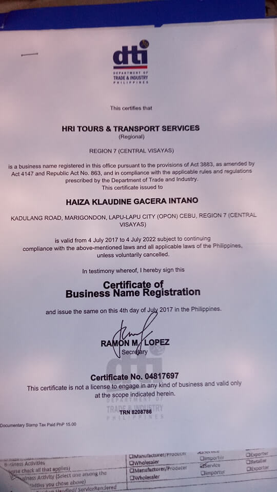 accreditation and business permit
